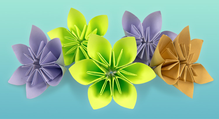 květiny z papíru