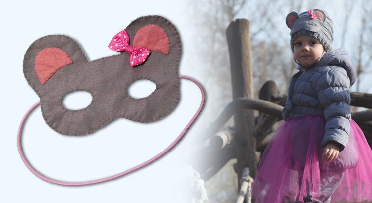 maska pro děti myš