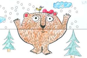 omalovánka medvěd složená