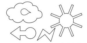 šablona se symboly počasí