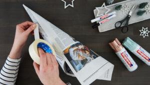 Výroba kužele z noviny