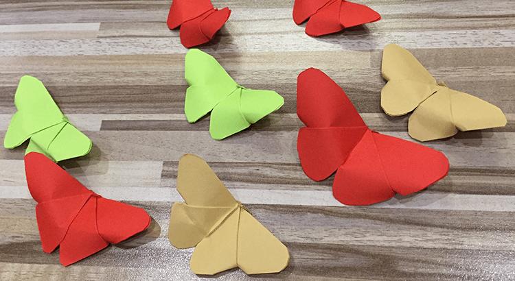 motýlek z papíru origami
