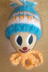 Vajíčka s pletenou čepičkou