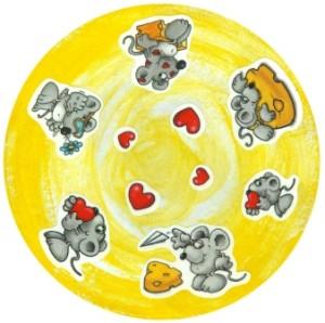 Valentýnský podtácek myškami