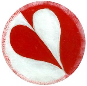 Valentýnský podtácek se srdíčkem