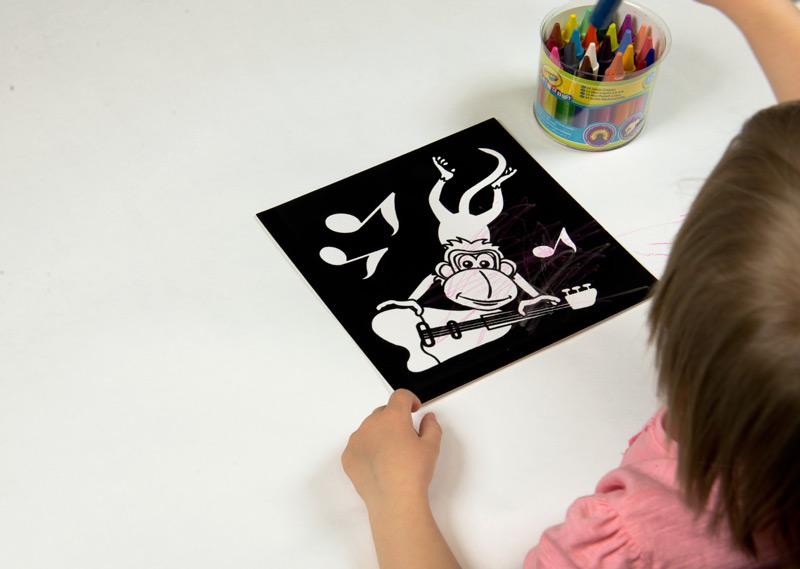 voskovky mini kids jumbo crayola vybarvování opičky