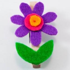 Rozkvetlé kolíčky – vyrábění z filcového papíru