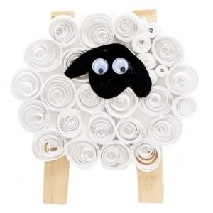 Quillingová ovečka – návod na výrobu