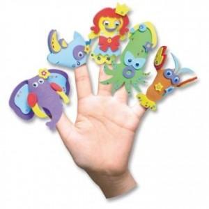 Pěnovka Moosgummi - maňásci na prstech