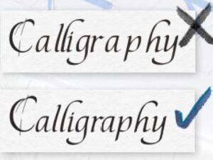 Ukázky mezer mezi písmeny ve slově