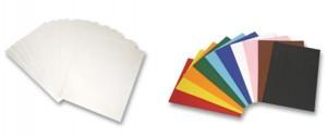Podkladový papír - čtvrtky a barevné papíry