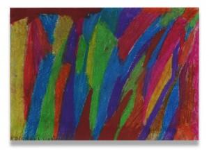 Použitý fixativu na barevné kresbě