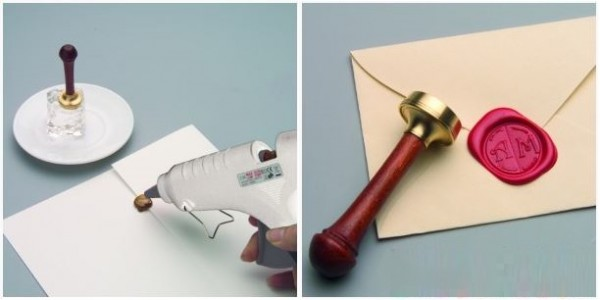 Postup při nanášení vosku a obtisk pečetidla
