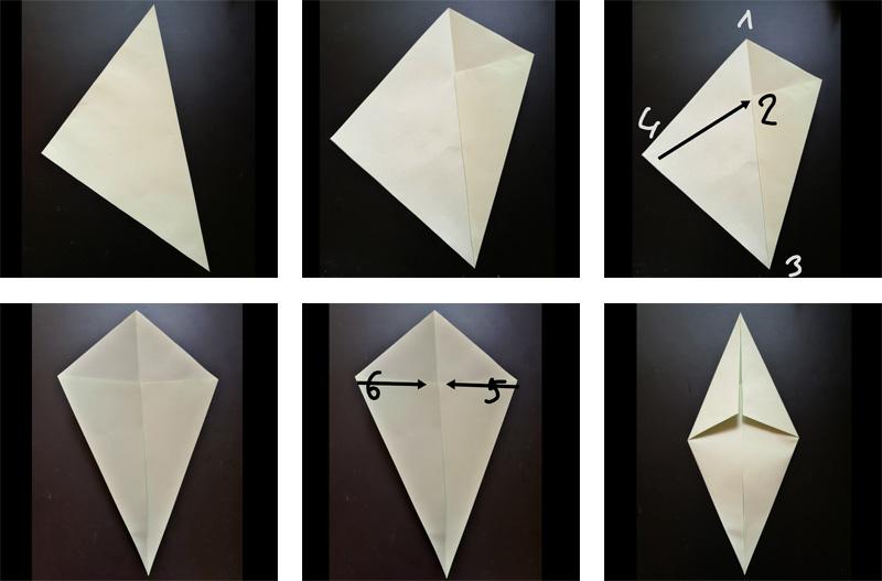 Tvoření lístku z papíru k tulipánu