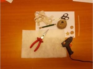 Potřeby pro výrobu vánočního stromečku