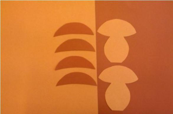 šablony na výrobu hříbku z papíru