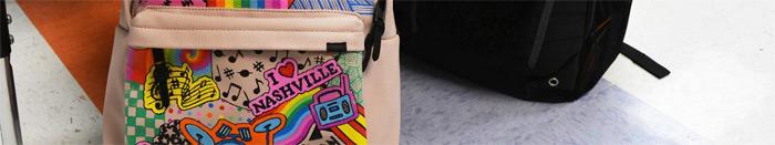 školní batoh pokreslení popisovač Sharpie