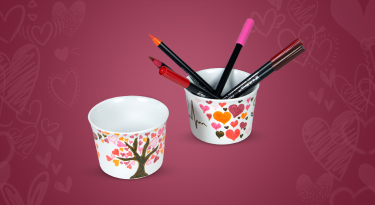 náhled malování porcelán