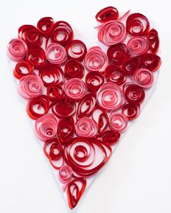 Valentýské srdíčko růžovo červené