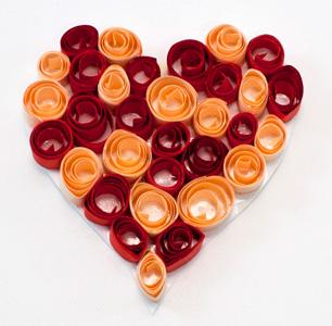Valentýské srdíčko červeno žluté