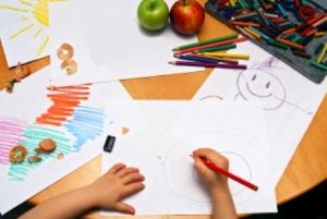zkouška kreslení a držení tužky