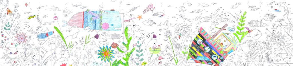 dlouhá omalovánky podmořského světa