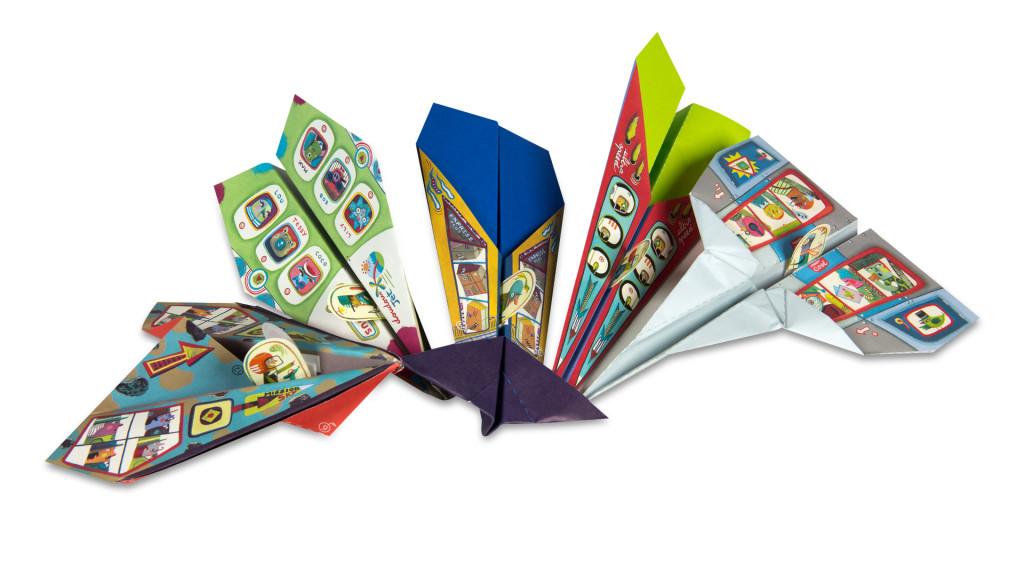 5 vlaštovek z papíru