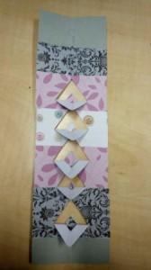 vytvoření plastického efektu na papírové záložce